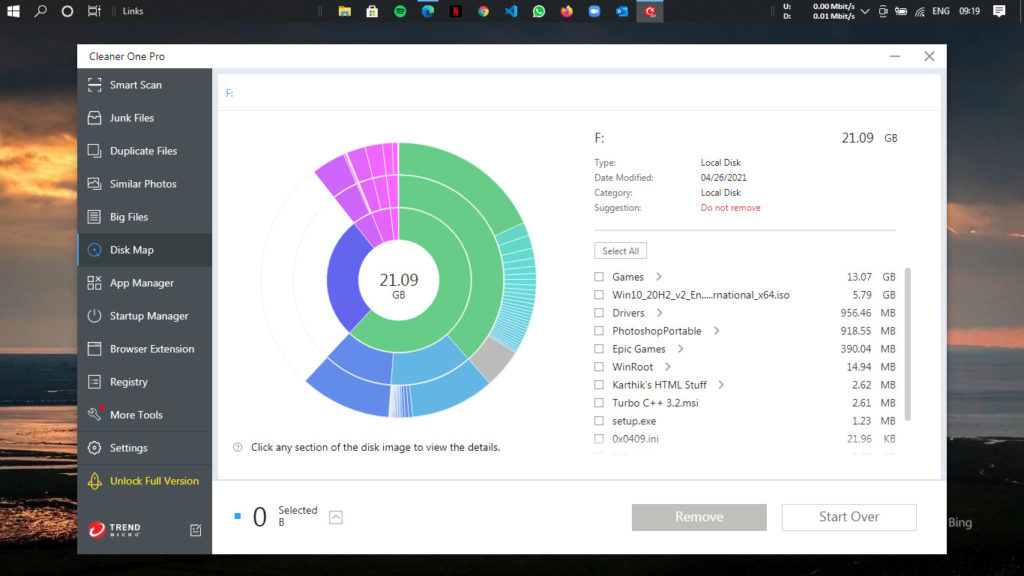 Cleaner One Pro - Disk Map