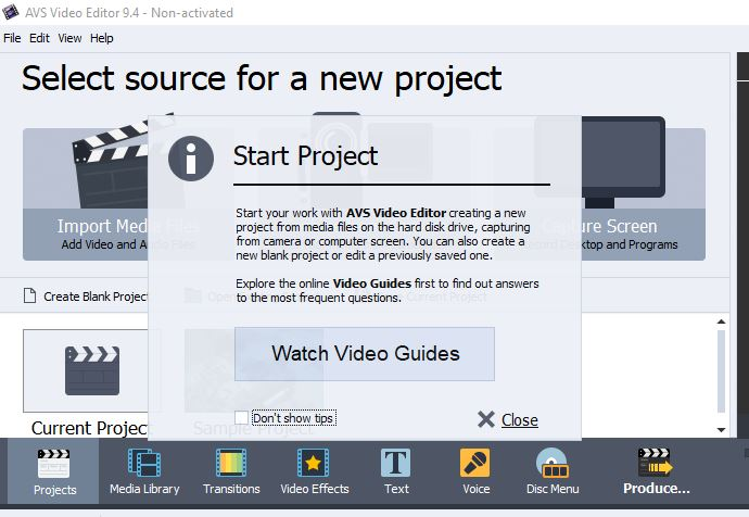 Avs Video Editor First Launch
