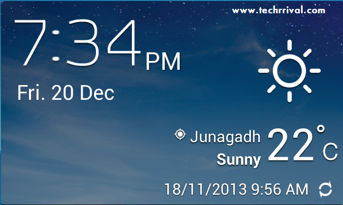 Samsung Galaxy S4 Accuweather Widget