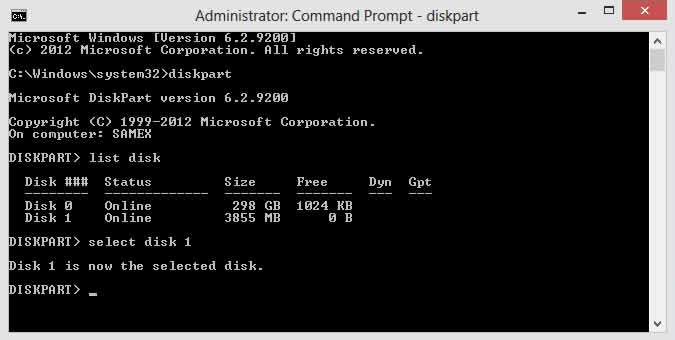 Create Bootable Pendrive using Windows Command Prompt