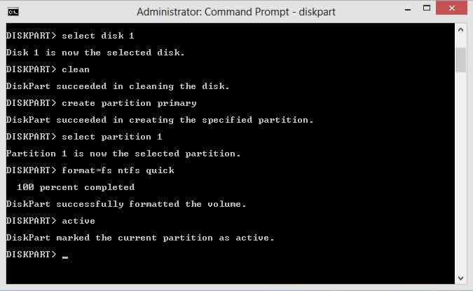 DiskPart CMD - Mark Partition Active
