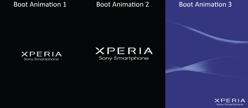 Sony Xperia Boot Animation